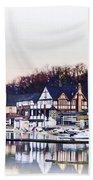 On Boathouse Row Beach Towel