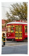 New Orleans Streetcar Beach Towel