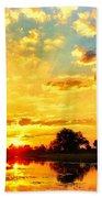Okavango Delta Sunset Beach Towel