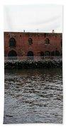 Old Brooklyn Pier Warehouse Beach Sheet