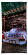 Old Pickup Truck Hdr Beach Towel