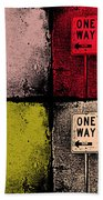 One Way Street Beach Towel
