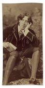 Oscar Wilde 1882 Beach Towel by Napoleon Sarony
