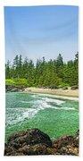 Pacific Ocean Coast On Vancouver Island Beach Towel