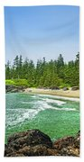 Pacific Ocean Coast On Vancouver Island Beach Sheet
