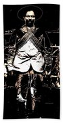 Pancho Villa With Cross Thatched Bandolier Rebel Camp No Locale Or Date-2013 Beach Towel