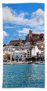 Panorama Of Ibiza Spain Beach Towel