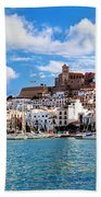 Panorama Of Ibiza Spain Beach Sheet