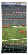 Paul Brown Stadium Beach Towel by Dan Sproul