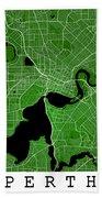 Perth Street Map - Perth Australia Road Map Art On Colored Backg Beach Towel