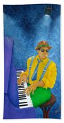 Piano Man Beach Towel by Pamela Allegretto