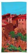 Pitigliano Village Beach Towel