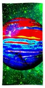 Planet Disector Red 1 Beach Towel