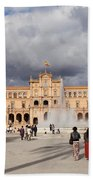 Plaza De Espana Pavilion In Seville Beach Towel