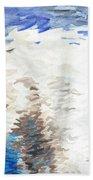 Polar Bear Reflection Beach Towel