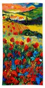 Poppies In Tuscany  Beach Towel