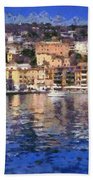 Porto Stefano In Italy Beach Towel