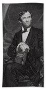 Portrait Of Abraham Lincoln Beach Towel by Alonzo Chappel
