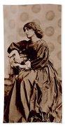 Portrait Of Jane Morris Beach Towel