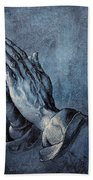 Praying Hands Beach Towel