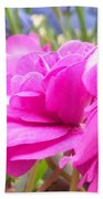 Pretty Pink Flower Beach Towel