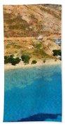 Psili Ammos Beach In Serifos Island Beach Towel