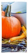 Pumpkins Decorations Beach Towel