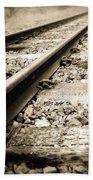 Railway Tracks Beach Sheet
