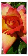 Rainbow Sorbet Rose Beach Towel by Denise Mazzocco