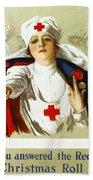 Red Cross Poster, C1918 Beach Towel