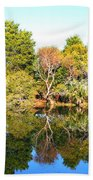 Reflections Of Fall Beach Towel