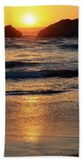 Reflections Of Sunset Beach Towel