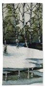Reflections Of Winter Beach Towel