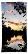 River Sunset Beach Towel