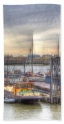 River Thames Boat Community Beach Towel