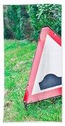 Road Sign Beach Towel