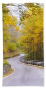 Road With Curves Beach Towel
