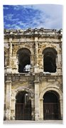 Roman Arena In Nimes France Beach Towel