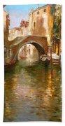 Romance In Venice  Beach Towel