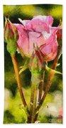 Rose Flower Beach Towel