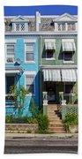 Row Houses In Washington D.c. Beach Towel