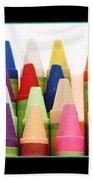 Rows Of Crayons Beach Towel