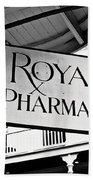 Royal Pharmacy - Bw Beach Towel