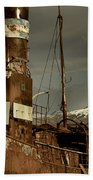 Rusted Whaling Boats Beach Towel by Amanda Stadther