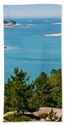 Sailboat In Georgian Bay Beach Towel