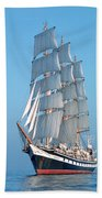 Sailing Ship Beach Towel by Anonymous