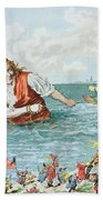 Scene From Gullivers Travels Beach Sheet