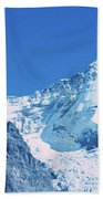 Scenic View Of Eiger And Monch Mountain Beach Sheet