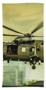 Sea King Helicopter Beach Towel