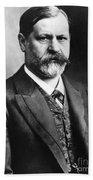 Sigmund Freud (1856-1939) Beach Towel